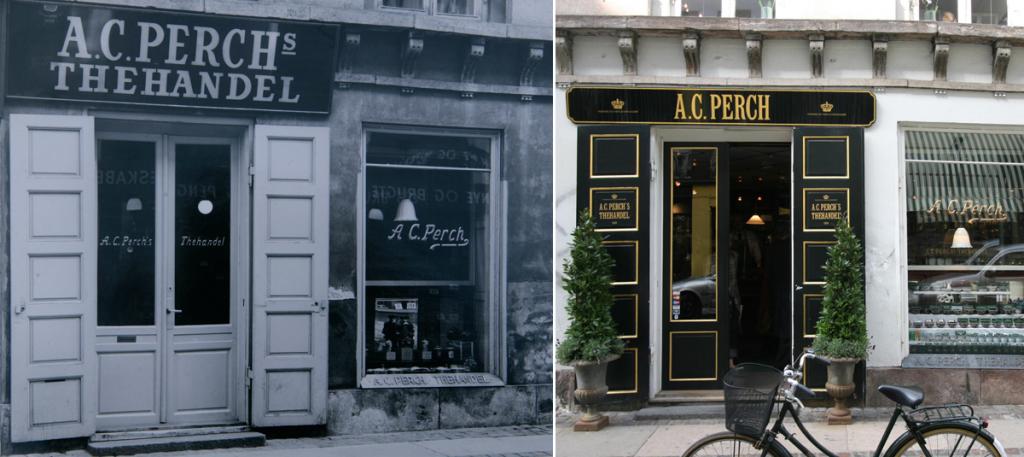 A.C. Perchs Thehandel før og nu