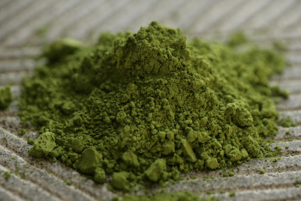 Matcha te i sin rene form inden brygningen